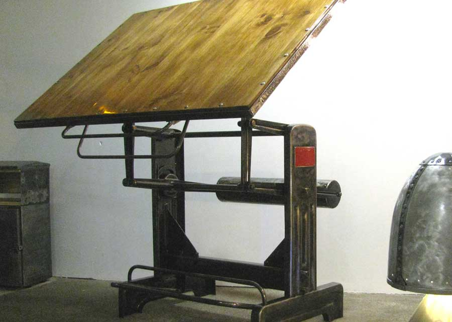 table dessin ann es 50 l 39 atelier palois. Black Bedroom Furniture Sets. Home Design Ideas