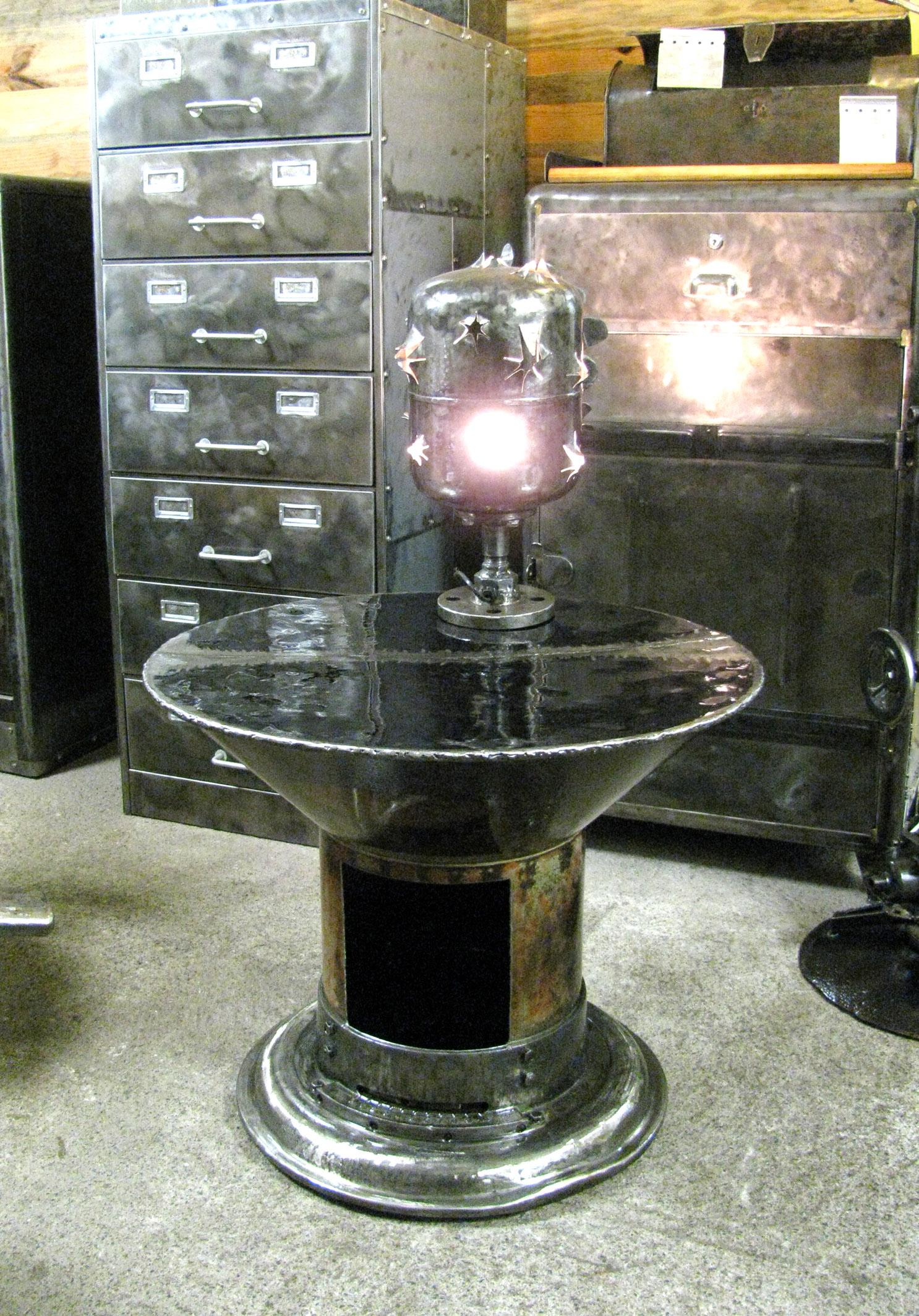table basse acier recycl l 39 atelier palois. Black Bedroom Furniture Sets. Home Design Ideas