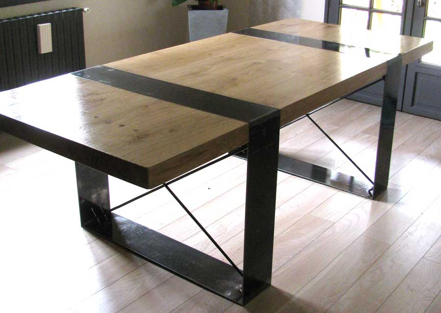 Table ch ne massif l 39 atelier palois for Table chene massif